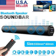 Bluetooth Wireless Surround Sound Bar System 4 Speaker Home Subwoofer Tv Theater