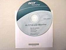 New Acer AL1714 LCD Monitor CD User Manual Quick Start Guide Acrobat Reader