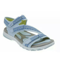 Ryka Sport Sandals Size 8 1/2 8.5 Adjustable Light Blue Walking Comfort Ginger