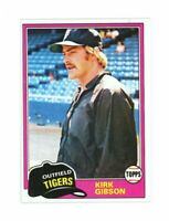 1981 Topps #315 Kirk Gibson Dodgers World Series Great Rookie Card