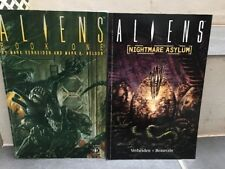 Lot 2 GN Dark Horse COMICS / ALIENS book One & Nightmare Asylul RARE