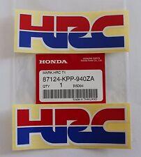 2 x HONDA - HRC (Honda Racing Corporation) DECAL STICKER BADGE 100% GENUINE
