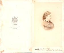 Ken, Paris, Madame la Vicomtesse Albert de Chabannes Vintage CDV albumen carte d
