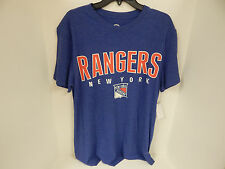 New York Rangers MENS Tshirt Blue/Red/White GIII Sample Short Sleeve -Large