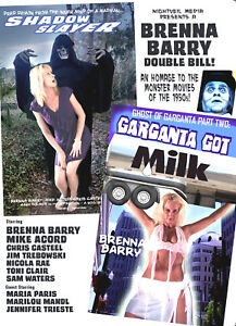 SHADOW SLAYER - GARGANTA GOT MILK! DOUBLE SCI-FI DVD BRENNA BARRY, BILL BLACK
