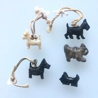 """Vintage Lot x5 Scotty Dog Charms Approx. .5"""" Wide Each"""