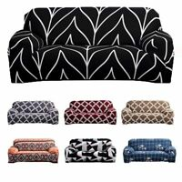 Sofa Covers Multicolored Elastic Stretch Slipcover Protector Set 1 2 3 4 Seater