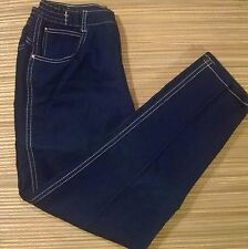 Vintage 80's Ladies PS Gitano Dark High Waist Tapered Leg Mom Jeans 32/18W Short