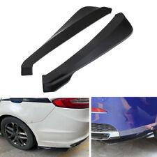 2X Car Body Rear Bumper Lip Diffuser Splitter Canard Protector Black Universal