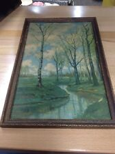 Vintage Framed R. Atkinson Fox Lithograph Prints - Landscape - Nature - Trees