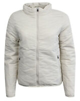 Nike Womens Insulated Padded Zip Lightweight Coat Jacket Cream 418566 210 M19