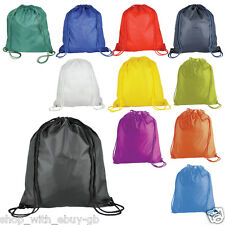 DRAWSTRING NYLON BACKPACK BAG - SCHOOL/GYM/SPORTS/PE/BOOKS/DANCE - RUCKSACK