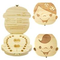 Wooden Baby Tooth Box Organizer Milk Teeth Wood Storage Box for Boy Girl