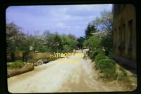 Road at Army Base in Suwon, Korea in early 1950's, Original Slide e28a
