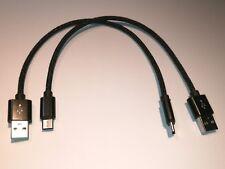 2x kurze Ladekabel USB 3.1 TYPE-C 20cm schwarz USB-C Anschluss P9 P10 G5 Z1 S8