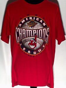VTG 1997 Cleveland Indians MLB Baseball American League Champions XL Red T-shirt