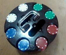 Vintage Plastic Carry Caddy with 180 Poker Chips