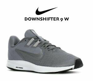 Nike Downshifter 9 Wide Women's  Running Shoe AR4947 Grey Silver size 9 10