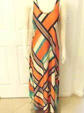 Maxi Dress Coral Dress Bohemian Dress Summer Dress Size Large Dress Orange