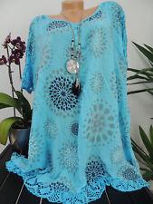 Damen Bluse Größe 46 48 50 52 54 Übergröße Übergrößen Tunika Blusen T Shirt 85