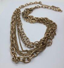 "Vintage Necklace Gold Tone Chain 33"" Adjustable Heavy 171 Grams"