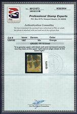NICE GENUINE SCOTT #100 USED CLEAR F-GRILL PSE CERT RED BLACK CANCELS  SCV $1120
