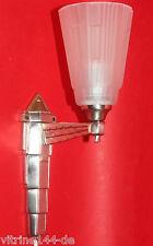 Wandlampe Art Deco Designleuchte Messing vernickelt silber satiniertes Glas