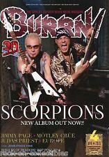 Burrn! Heavy Metal Magazine April 2015 Japan Scorpions Judas Priest Slash UFO