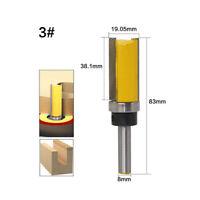"""8mm Shank 3/4"""" Cutting Dia. Router Bit 1.5"""" Woodwork Straight Flush Cutter"""