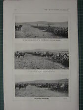 1916 WWI WW1 PRINT ~ KING INSPECTING ULSTER DIVISION IRISH CYCLISTS ARTILLERY
