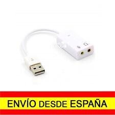 Adaptador Tarjeta de Sonido USB 2.0 Audio para PC Jack 3,5mm Blanco a0294