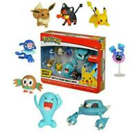 Pokemon 8 Battle Figure Multi Pack Popplio Rowlet Cosmog Metang Eevee Pikachu 32