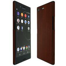 Skinomi Dark Wood Skin+Clear Screen Protector for Sony Xperia XZ Premi