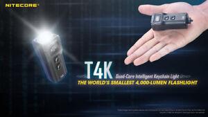NITECORE T4K World Smallest 4000 Lumens Flashlight Keychain