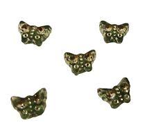 250 pcs Green Butterfly Diamonettes Plastic Rhinestone Craft Beads 7mm x 5mm