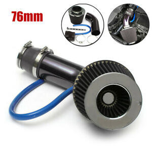 Car Aluminum Cold Air Intake Filter Induction Pipe Power Flow Hose Universal Set