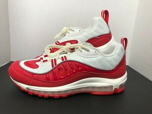 NEW MENS NIKE AIR MAX 98 UNIVERSITY RED SNEAKERS 640744 602 SIZE 9