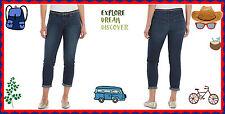 $44 12 P Women's Apt. 9 SLIM FIT Dark Wash Belt Cuffed or UnCuffed Capri Jeans