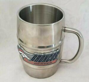 Denver Boncos Beer Mug Cup Stainless Steel 16 oz pint NFL Football