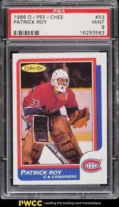 1986 O-Pee-Chee Hockey Patrick Roy ROOKIE RC #53 PSA 9 MINT