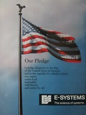 5/1992 PUB E-SYSTEMS DRAPEAU FLAG STAR SPANGLED BANNER AMERICA USA ORIGINAL AD