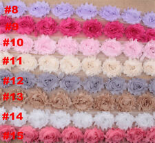 10pcs Frayed Chiffon Rose Flower Lace Trim Shabby Chic Bridal Wedding Dress DIY