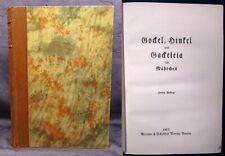 Brentano Gockel, Hinkel und Gackeleia ein Mährchen 1912 Belletrsitik Lyrik js