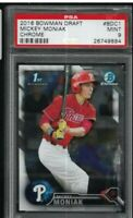 2016 Bowman Chrome Draft Mickey Moniak Phillies RC #BDC1 PSA 9 MINT 1st Rookie