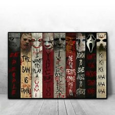 Horror Movie Characters Poster, Nine Horror Characters, Horror movie character