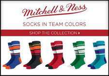 Mitchell and Ness Men's Team Colored Socks