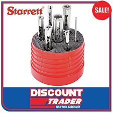 Starrett 7 Piece Diamond Tile Hole Saw Kit KD2000TD1