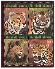 Marshall Islands, Scott 604, Lion, Tiger, Jaguar, Cheetah, 1996, NH