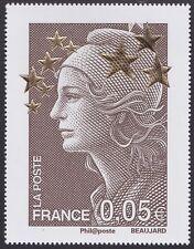 2012 FRANCE N°4662B** Maxi Marianne de l´Europe Etoiles d´Or (à 0,05€) 60x78mm