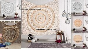 Indian Ombre Mandala Cotton Bedspread Bohemian Queen Wall Hanging Tapestry Throw